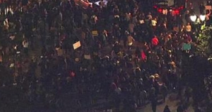 2016 election result protest in Oakland, CA